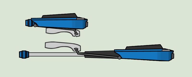 RWBY Scamp Corsair weapon side view by RaighnDraconus