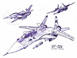 SF-126 in flight by TheXHS
