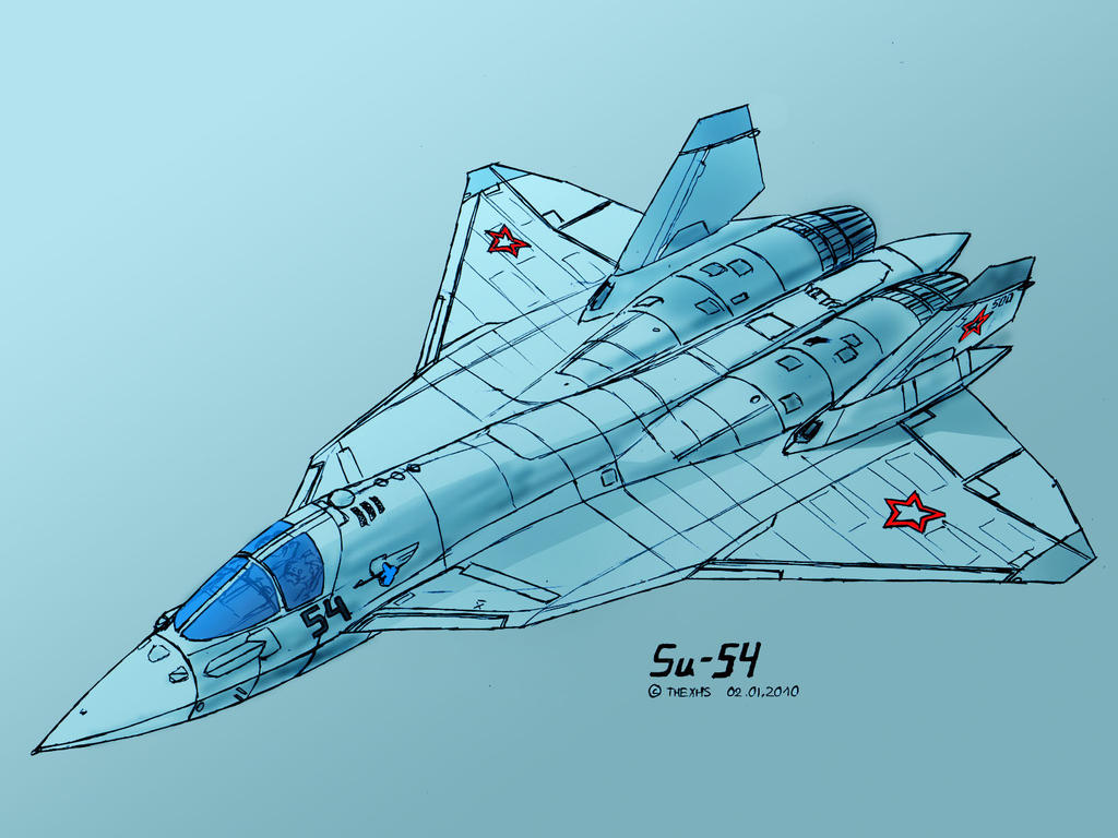 Sukhoi Su-54 by TheXHS