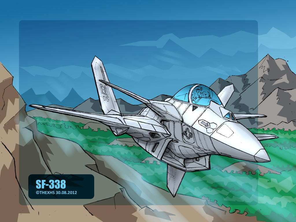 SF-338 in flight by TheXHS