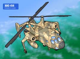 XHC-414 in flight by TheXHS