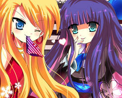 Panty and stocking by miacis83