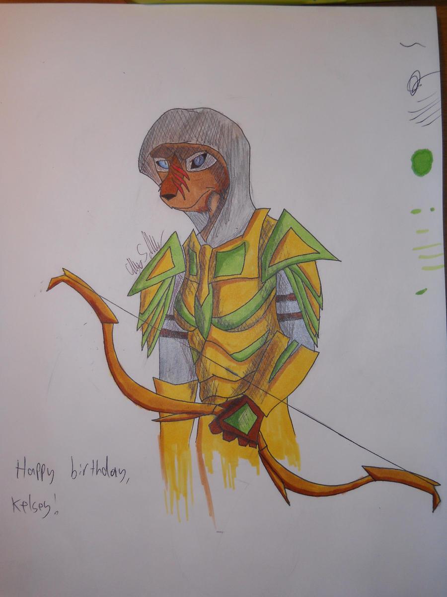 Birthday Khajiit by SquareZer0