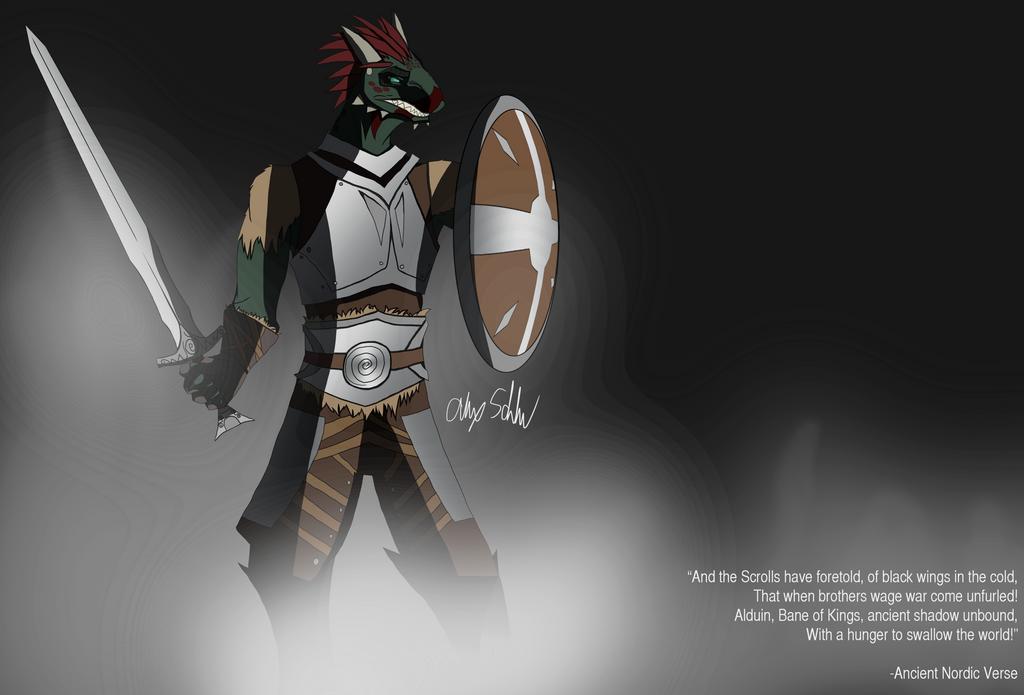 The Dragon of Jorvaskr by SquareZer0