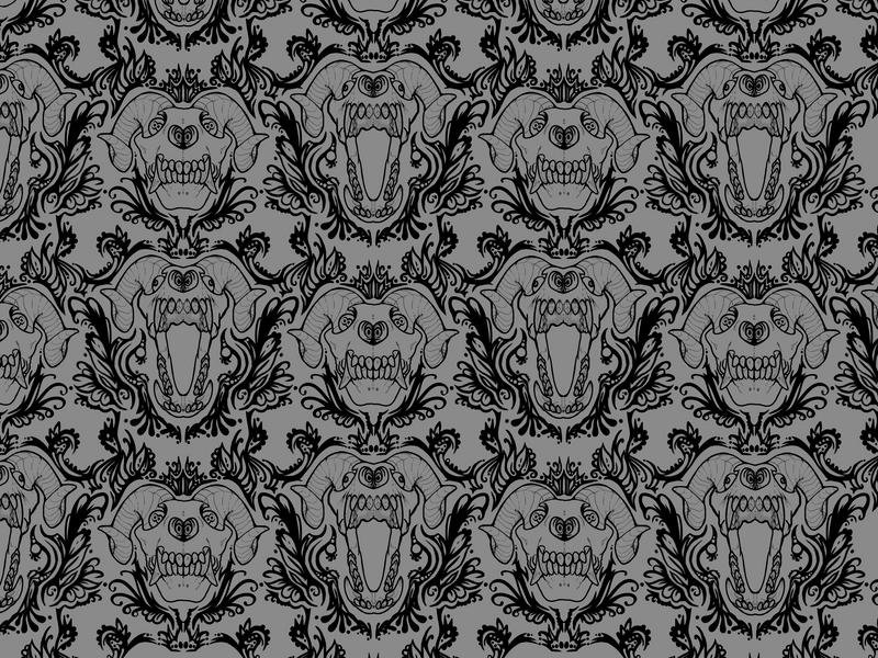 Skull Wallpaper by dragon-shark