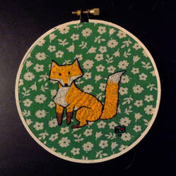 Embroidered fox by evolra
