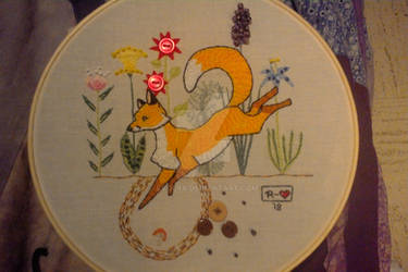 Embroidered fox II