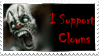 Evil Clown Stamp by MythicPhoenix