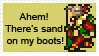 Kefka: Sand on His Boots stamp by MythicPhoenix