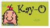 EarthBound: Kay-O stamp by MythicPhoenix