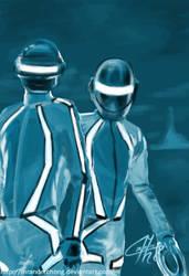 Daft Punk TRON Speed Paint