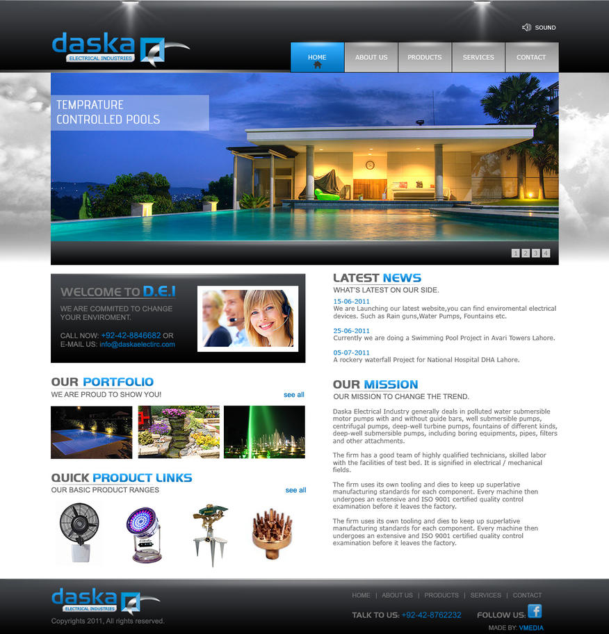 Electrical Company website by rizmax on DeviantArt