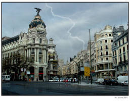 Storm over Madrid by Mr-Vicent