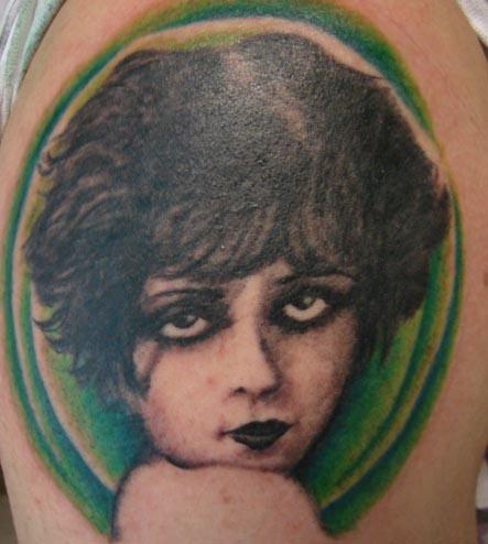 Clara Bow tattoo