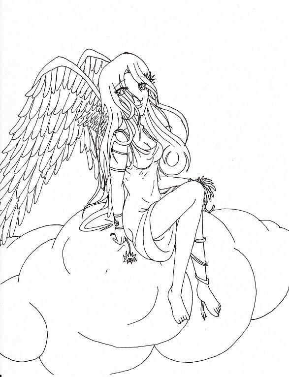Beautiful Angel Coloring Pages For Adults Coloring Pages
