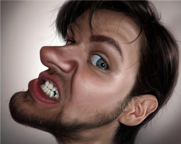 self-caricature by Paintpaul
