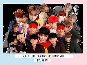 85/ Seventeen-Season's Greetings - PNG Render Pack