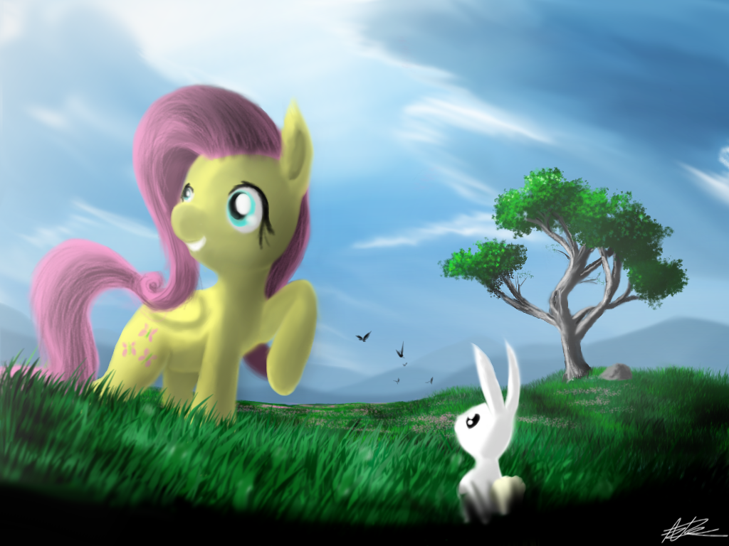 Fluttering Fields by AzureDash