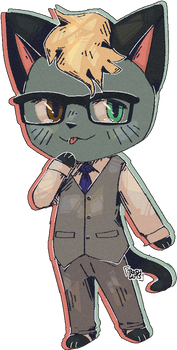 hello i too am gay for the glasses cat