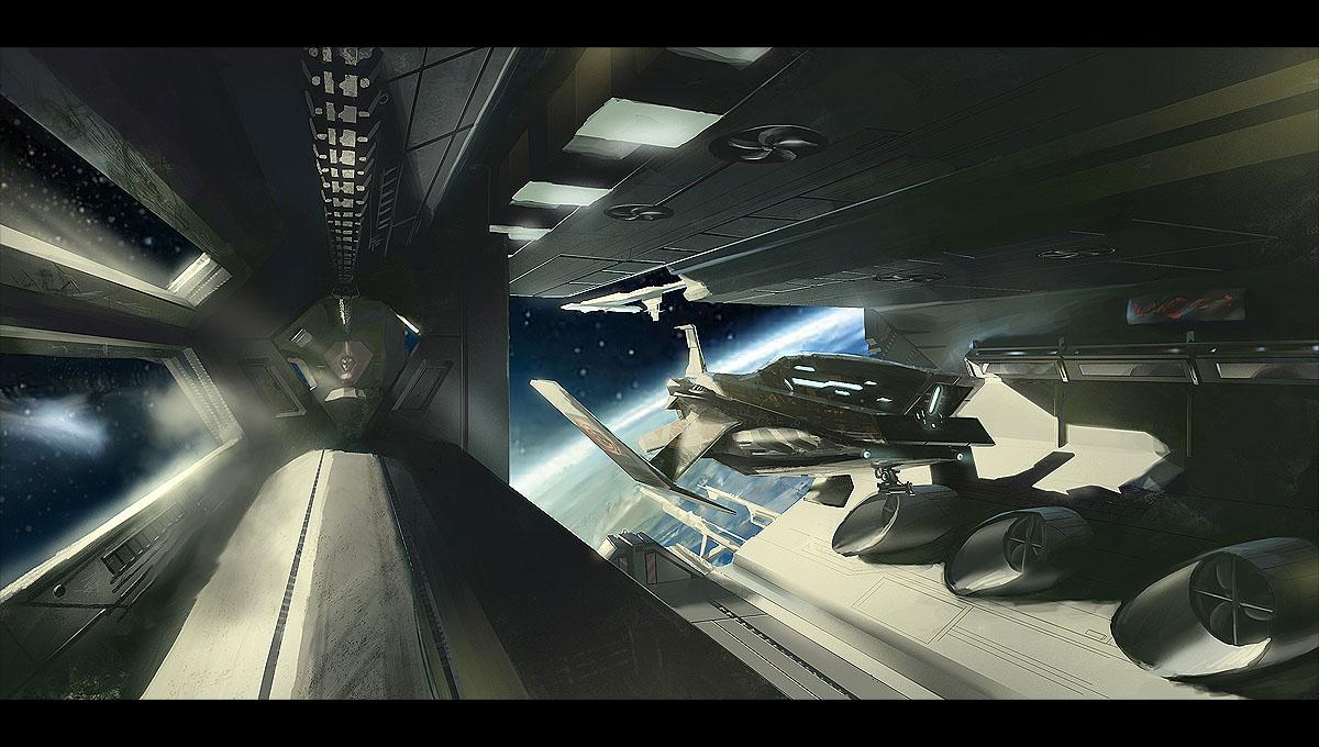 inside space ship docking station - photo #20