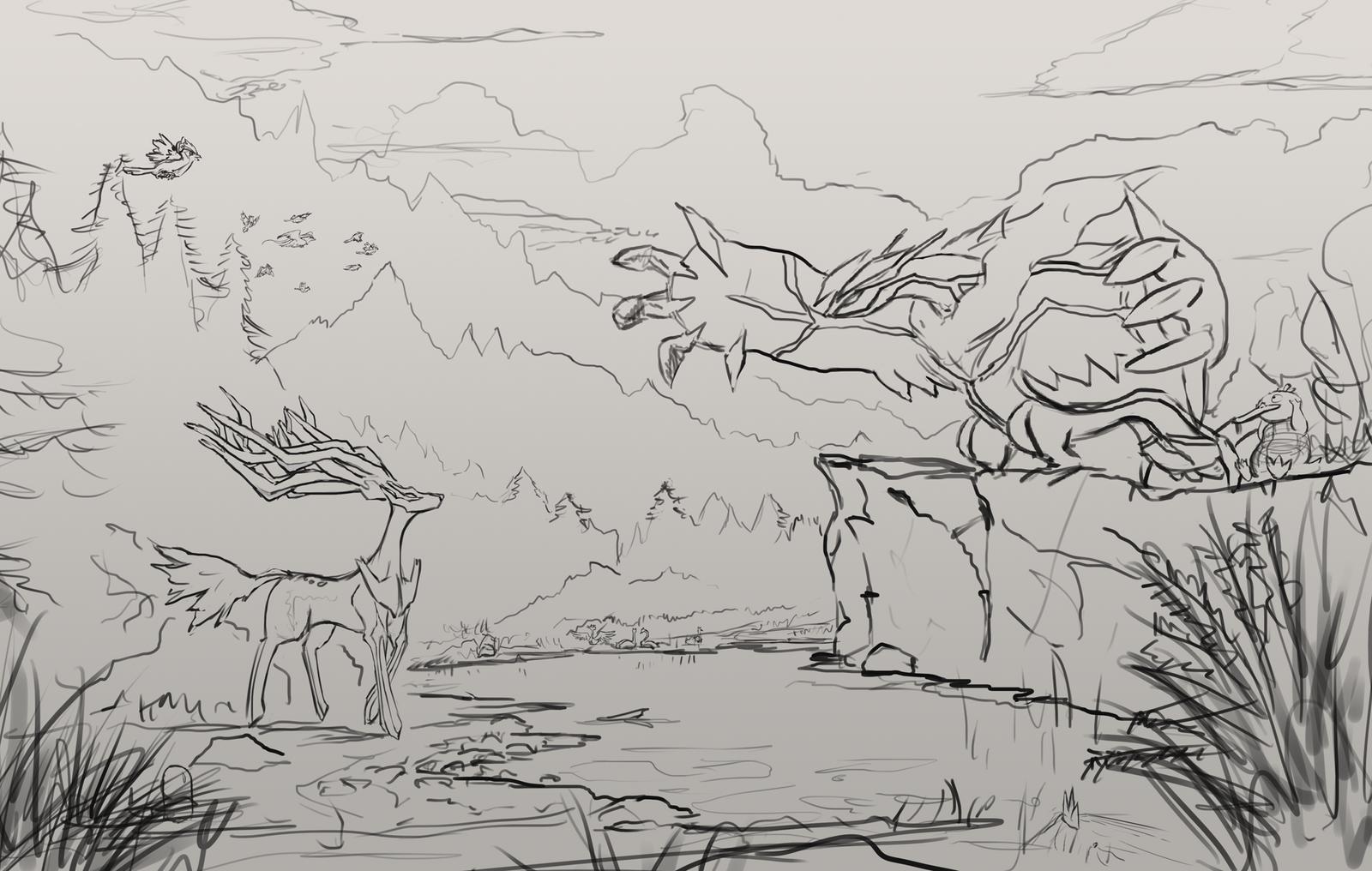 The Legendary Meeting sketch by Dekus