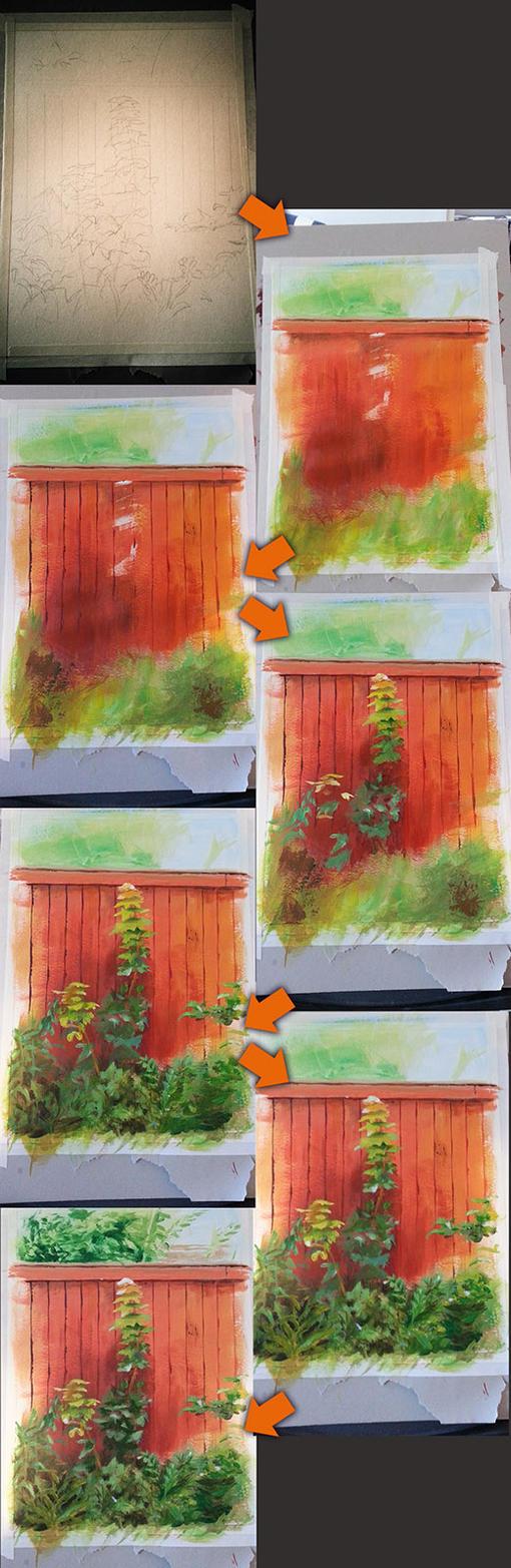 Foliage at the fence Making-Of by Dekus