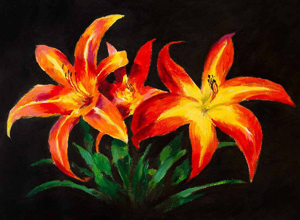 Day Lilies by Dekus