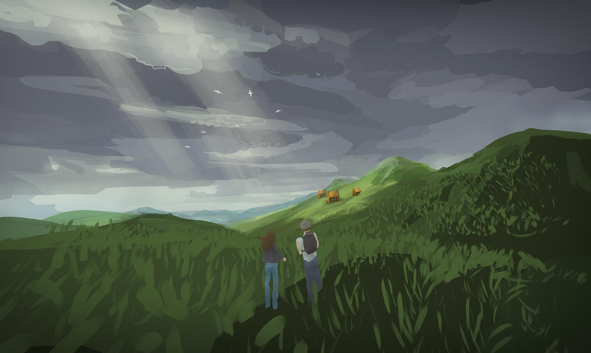 Mountain Hike Quill VR Painting by Dekus