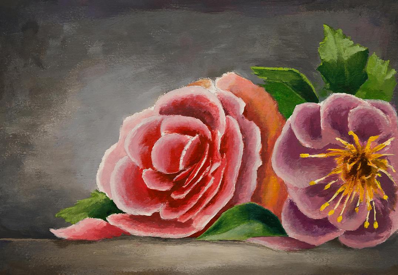 Flowers painting by Dekus