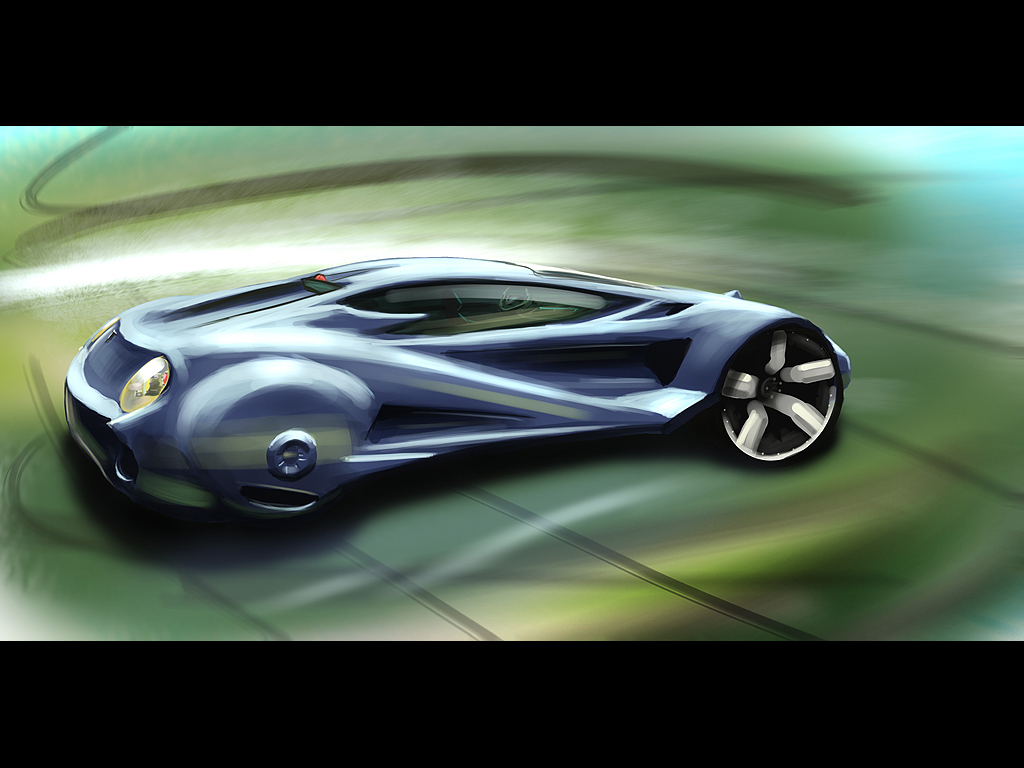 Future Coupe - speedpainting by Dekus