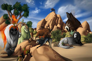 Desert Shenanigans by fiachmara
