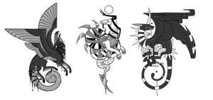 Stylized Dragons