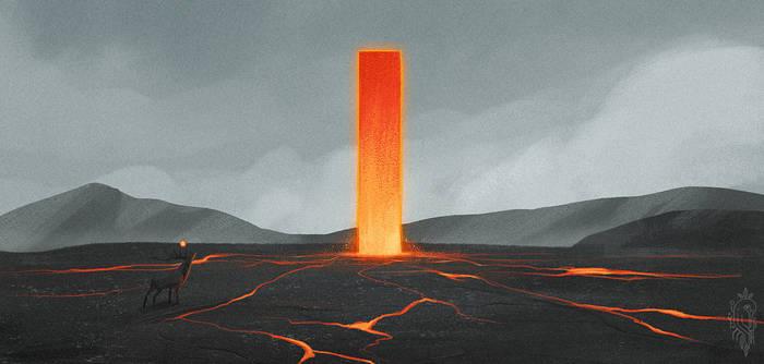 Landscape Practice - Lava Plinth