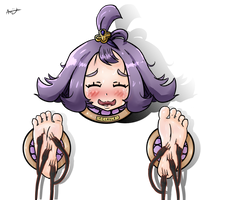 Trapped and Tickled - Acerola (Pokemon) by Azamuku-chan