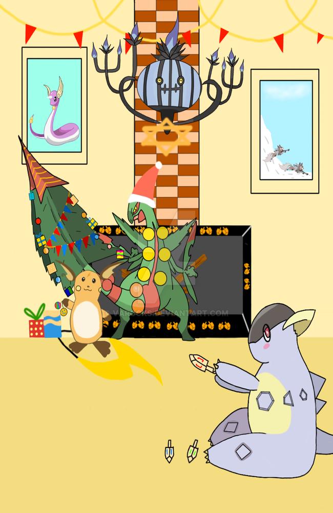 Calendar Drawing Contest : Pokeheroes advent calendar drawing contest by varocks on