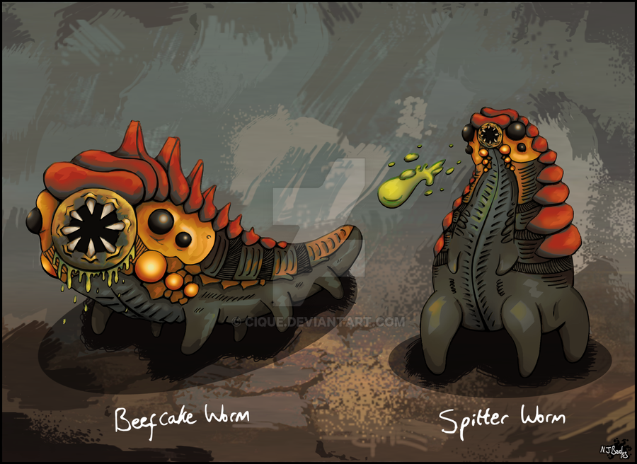 Sewer Worms by Cique