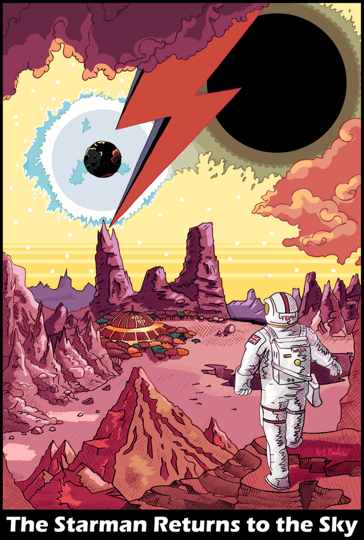 The Starman Returns to the Sky by Cique