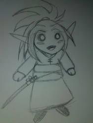 Chibi Blood elf by Amazair