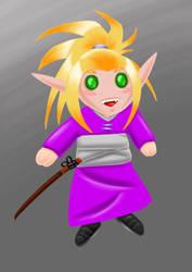 Chibi Blood elf re-color by Amazair