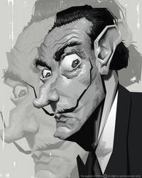 Salvador Dali by diplines