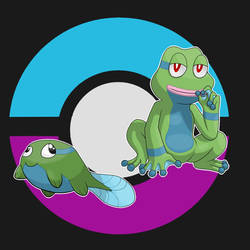 Derpole and Frepe(fakemon) by Alpheux
