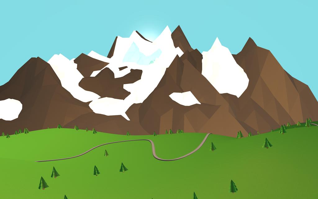 Low Poly Mountains by Malztrixme