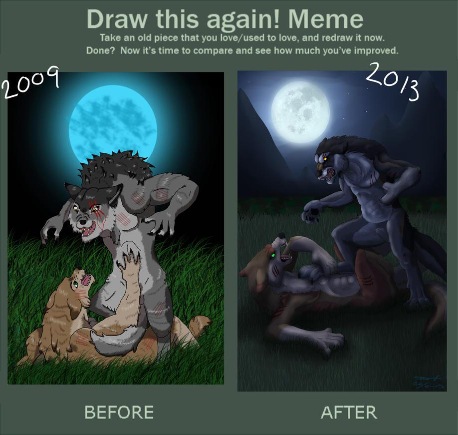 2009 vs 2013 werewolves fight by xSnarfy on DeviantArt