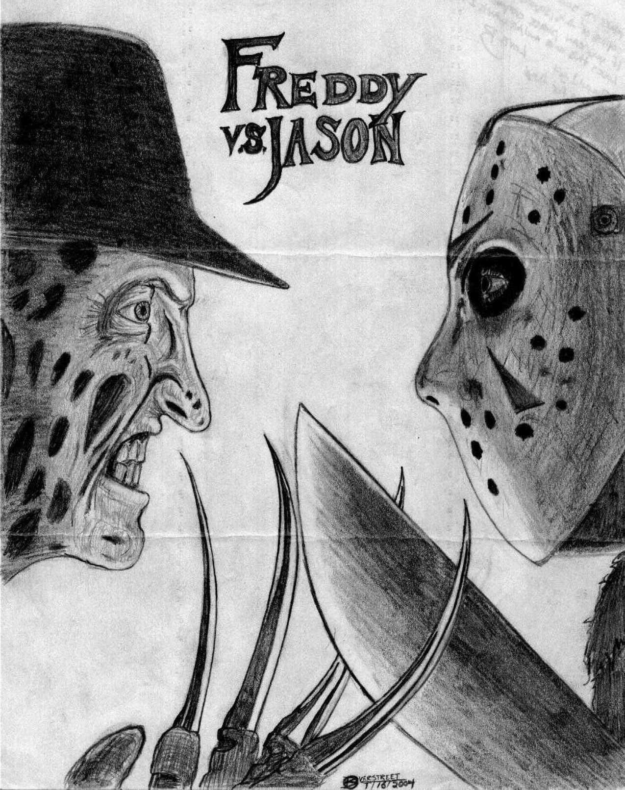 Freddy vs Jason Drawings vs Jason Drawings Freddy