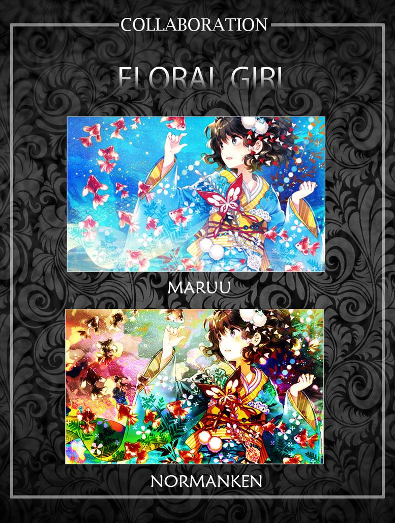 Floral Girl by akasunanosasori20