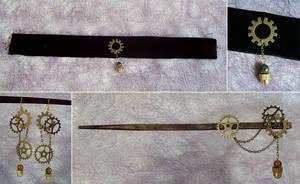 Steampunk Jewelry by fuchskauz