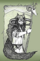 Veles - Slavic God by fuchskauz