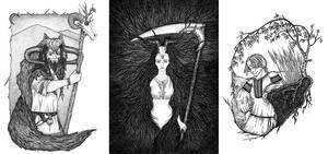 Slavic deities: Veles, Morana and Yarilo