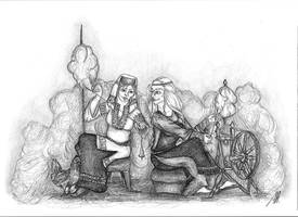 Mokosh and Frigg by fuchskauz