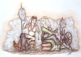 Mokosh and Frigg 2 by fuchskauz